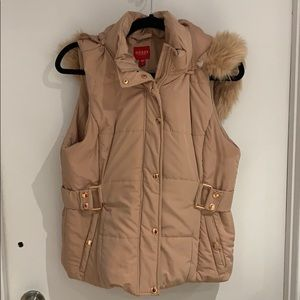 Guess pink and rose gold puffer